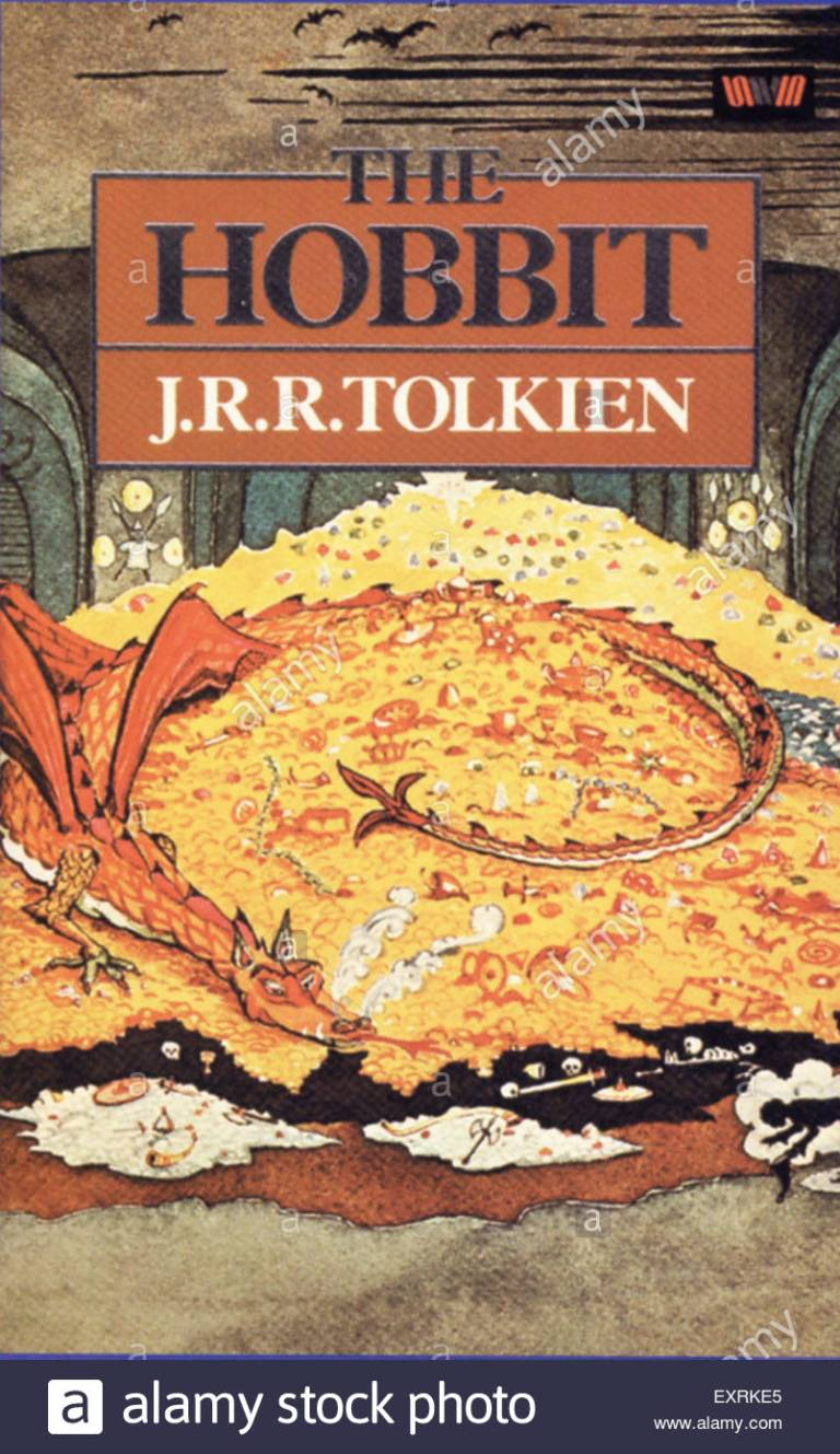 1980s-uk-the-hobbit-by-jrr-tolkien-book-cover-exrke5