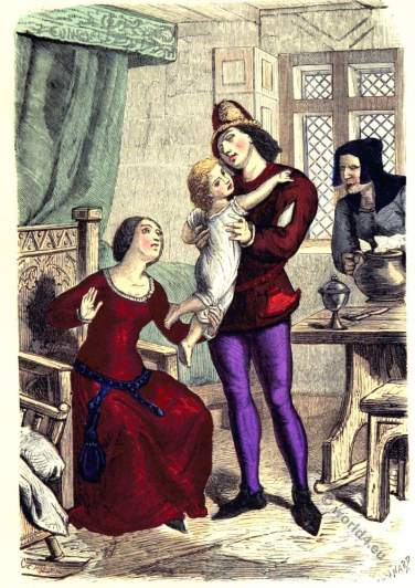 wealthy_bourgeoisie_family_15th_century_clothing