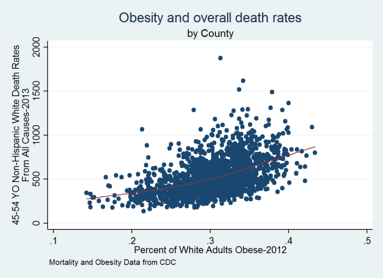 Obesity Death Rates 2013